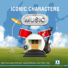 Check out how the #Music #industry has shaped our imagination with these #iconic #characters! #showflipper #showtainer #art #blogs