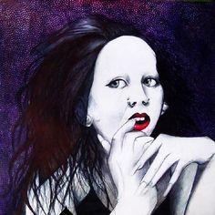 The beauty of Anna Varney #annavarney #beauty #draw #soporaeternus #goth #gothic #amazingmusic #sonnymansonshinoda