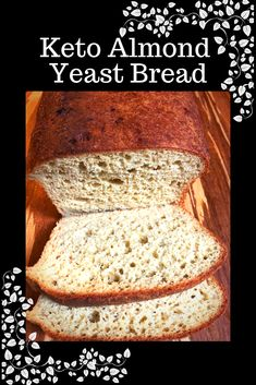 "At only 3 Net Carbs per slice you can easily fit this into your daily carb count. This bread holds up to the meatiest sandwiches and actually tastes like bread. It's not eggy and has a chewy ""mouth feel"" that you miss with most LCHF breads. Keto Almond Bread, Best Keto Bread, Bread Diet, Yeast Bread Recipes, Bread Machine Recipes, Low Carb Recipes, Cooking Recipes, Milk Recipes, Cooking Tips"