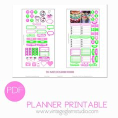 The Sweet Life Planner Stickers | Vintage Glam Studio