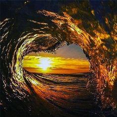 Liquid golden love!  Photo by @robbiecrawford  #golden #goldenwave #wave #ocean #robbiecrawford #oceanphotography #love #sealife #mermaidlife #swim #nature #beautiful