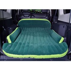 Car Travel Inflatable Mattress Flocking Air Bed Camping Universal SUV Back Seat Extended Air Couch with Pillow Suv Camping, Camping Hacks, Outdoor Camping, Camping Guide, Outdoor Travel, Camping Essentials, Camping Cabins, Camping Supplies, Beach Camping