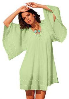 Gauze Angel Coverup | Plus Size Cover Ups | Roamans. love the color!