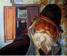Singurătate portret de bătrân pictat în ulei pe pânză pictură originală tablou portret în ulei pe pânză pictură realistă hiperrealistă portret unicat semnat de pictorul român Călin Bogătean, membru al Uniunii Artistilor Plastici din Romania. Singurătate portret de bătrân pictură tablou în ulei Artist, Painting, Artists, Painting Art, Paintings, Painted Canvas, Drawings