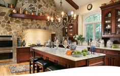 Kitchen by Ulrich of Ridgewood, NJ.  love the stone.