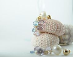 Colorful Gemstone and Pearl Earrings in by LillyputLaneDesignCo, $198.00