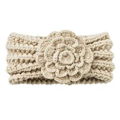 Crochet Ear Warmers with Flowers | Ear Warmer I know I have a free pattern similar to this somewhere in ...