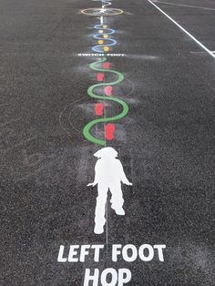 Our range of play trail playground markings are designed to help children develop a range of fitness skills, while incorporating interesting challenges. Playground Painting, Playground Games, Playground Design, Preschool Learning Activities, Classroom Activities, Kids Learning, Vestibular Activities, Classroom Hacks, Girl Scout Silver Award