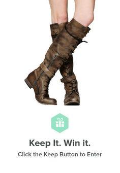 Win gorgeous #FreePeople #boots on Keep! #overtheknee