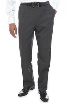 INCOTEX Superfine Wool Charcoal Gray Dress Pants ~ European Fit