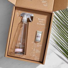 Honey Packaging, Coffee Packaging, Cosmetic Packaging, Cool Packaging, Safe Cleaning Products, Cleaning Kit, Home Spray, Gift Box Design, Cardboard Packaging