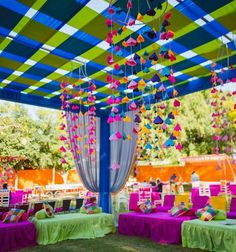 Let's jump to the list of off-beat Mehndi ceremony decoration ideas, that will lit up your decor in the best way, unique mehndi decor ideas Desi Wedding Decor, Diy Wedding Backdrop, Wedding Stage Decorations, Wedding Mandap, Wedding Vintage, Parties Decorations, Diy Backdrop, Hanging Decorations, Trendy Wedding