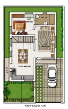 A Duplex House Plan Is For A Single Family Home That Is Built In Two Floors  Having One Kitchen And Dining. The Duplex House Plan Gives A Villa Look And  Feel ...