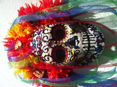 suger skull- At the buddy Holly Art Gallery. by Miriam K. Jeffreys