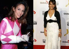 The Pink Ranger (Amy Jo Johnson) from Mighty Morphin Power Rangers: | 32 Of Your Childhood Crushes Then AndNow