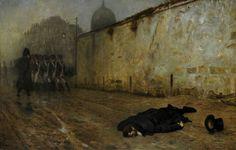 Jean-Leon Gerome - L'Exécution du Maréchal Ney, 1855-65