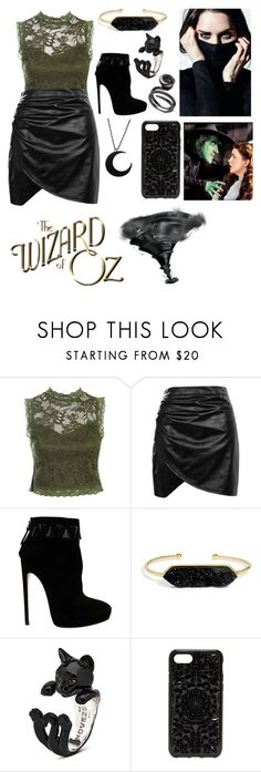 """""""The bad witch - wizard of oz"""" by mbubbles109 ❤ liked on Polyvore featuring Sans Souci, Boohoo, Alaïa, BaubleBar and Felony Case"""