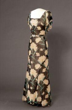 Evening dress, 1930 - 1934.