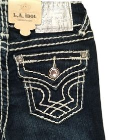 Details About La Idol S Kids Size 7 8 Skinny Jeans Bling Jewel Pocket K1208nr Nwt Ebay Tin Haulcow