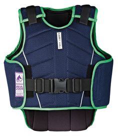 A safe yet comfortable body protector for young riders.