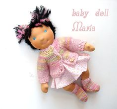 Maria  Waldorf doll baby 14 in doll by LaFiabaRussa on Etsy