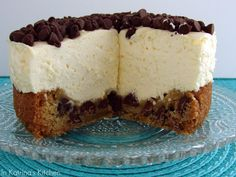 Chocolate Chip Cookie Dough Cheesecake #recipe from @KatrinasKitchen  I made this an it was to die for; delicious!