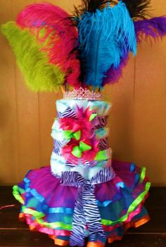 Tutu diaper cake! Pretty Sure I could make this!!!!