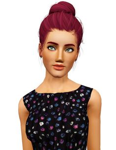 Newsea`s Sakura hairstyle retextured by Pocket for Sims 3 - Sims Hairs - http://simshairs.com/newseas-sakura-hairstyle-retextured-by-pocket/