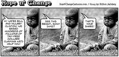 obama, obama jokes, political, humor, cartoon, conservative, hope n' change…