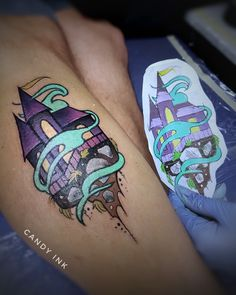#neo #traditional #castle #tattoo