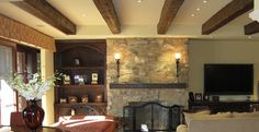 Hand hewn beams design gallery beautiful faux ceiling for Old world traditions faux beams