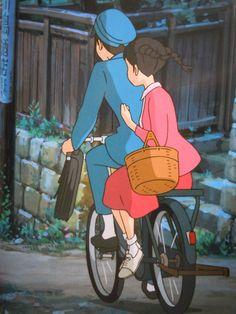 Studio ghibli,from up on poppy hill,hayao miyazaki Studio Ghibli Art, Studio Ghibli Movies, Totoro, Anime Manga, Anime Art, Laurence Anyways, Up On Poppy Hill, Character Art, Character Design