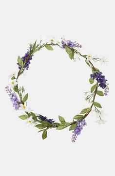 Heather Flower Garland - Hair Accessories - Bags & Accessories ( would wear it as a bracelet) Floral Garland, Flower Garlands, Floral Crowns, Ginger Lily, Heather Flower, Corona Floral, Crown Headband, Headband Hair, Flower Headbands