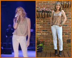 Silvergirl: Celeb-inspired challenge. I choose Rayna James, aka Connie Britton for today's look. I opted for white jeans as I don't own and probably never will own a pair of snake skin print pants.Once again, I was going for the essence of the look