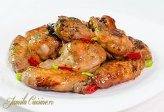 Aripioare dulci picante reteta video Romanian Food, Chicken Wings, Food Videos, Food To Make, Shrimp, Bbq, Recipies, Tasty, Cooking