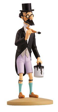 TINTIN FIGURINE NUMERO 38 COLLECTION disponible en France et en Belgique. Référence de la figurine: Philémon Siclone Les Cigares du Pharaon, planche 36, case B1