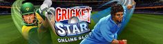 Lush green background cricket stadium, cheering crowds and excitement running sky high! Play our online slot game, Cricket Star, today at Vegas Paradise!