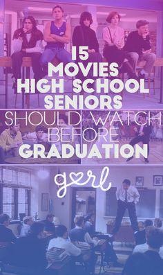senior year bucket list 15 Movies Every High School Senior Must Watch Before Graduation Senior Bucket List, High School Bucket List, High School Graduation, High School Seniors, Graduation Ideas, Senior Year Of High School, Graduation 2016, Senior 2017, Senior Guys