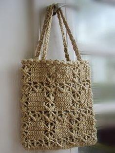 Lace bag (square petanko bag) - Bag and Purse Crochet Clutch, Crochet Handbags, Crochet Purses, Crochet Bags, Knit Crochet, Crochet Shoulder Bags, Lace Bag, Diy Handbag, Boho Bags