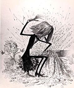 French caricature of Franz Liszt at the piano, circa 1845