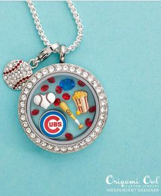 Chicago Cubs Origami Owl Locket  http://www.MindyKay.OrigamiOwl.com