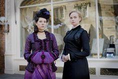 Elaine Cassidy as Katherine Glendenning and Joanna Vanderham as Denise Lovett in The Paradise (TV Series, 2012).