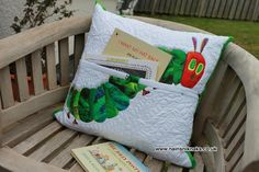 The Very Hungry Caterpillar Story cushion -amazing! Story Sack, Kids Toys, Children's Toys, Very Hungry Caterpillar, Cushions, Pillows, Early Childhood Education, Story Time, Needle And Thread