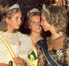 Infanta Elena, Infanta Christina and Queen Sofia of Spain