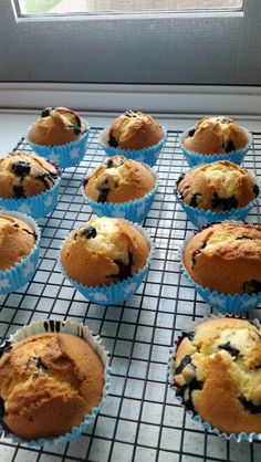 My Blueberry Cream Muffins from receipe I previously pinned....  turned out sooooo yum! !!