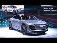 NEWCARNET - Audi has revealed its new e-tron Sportback concept at the Shanghai Auto Show. The all-wheel drive, all-electric car is powered by three motors de. All Electric Cars, Car Videos, Shanghai, Luxury Cars, Audi, Concept, Vehicles, Fancy Cars, Car