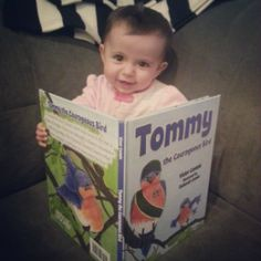 Lil reading her favorite book