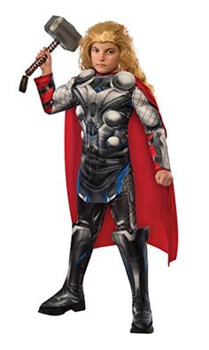 Rubies Costume Avengers 2 Age of Ultron Childs Deluxe Thor Costume Medium * Amazon most trusted e-retailer  #ChristmasCostumes