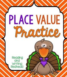 This cute turkey-themed product with a Thanksgiving turkey theme includes a variety of different activities to pretest, assess, practice, and play games for the second grade common core standard for place value - 2.NBT.1 . Great to use during the middle of fall / autumn. You may want to even use some of them as homework. They could be used for differentiation in first and third grade.  Included are: Place Value Check and Place Value Check 2.0 Place Value Choice Place Value Pictures