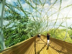 Standard Architecture's Garden-Wrapped Salford Meadows Bridge Changes With the Seasons | Inhabitat - Sustainable Design Innovation, Eco Arch...